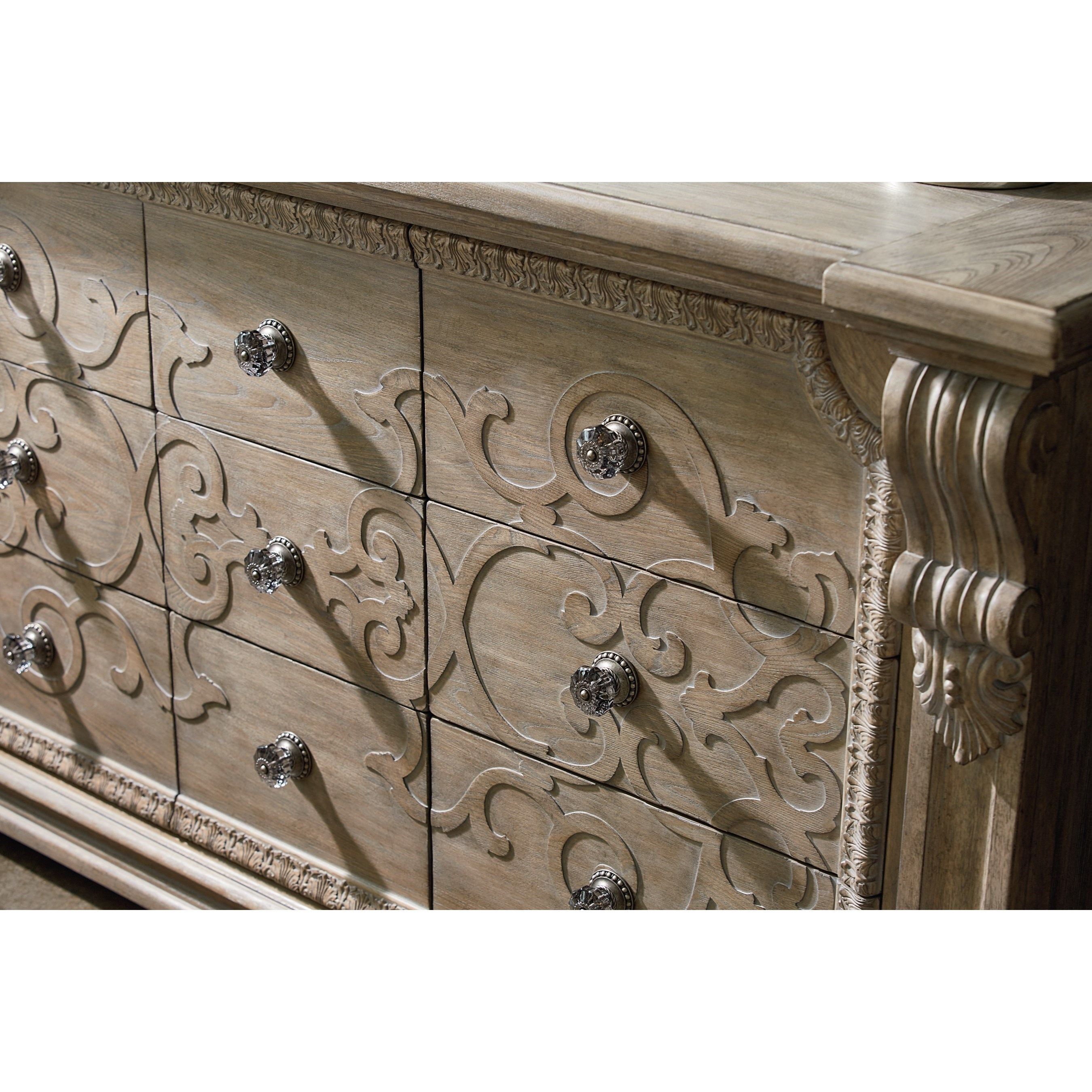 Th cent italian carved wood silver gilt console table furniture