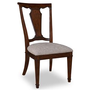 Belfort Signature Edwards Ferry Wood Back Side Chair