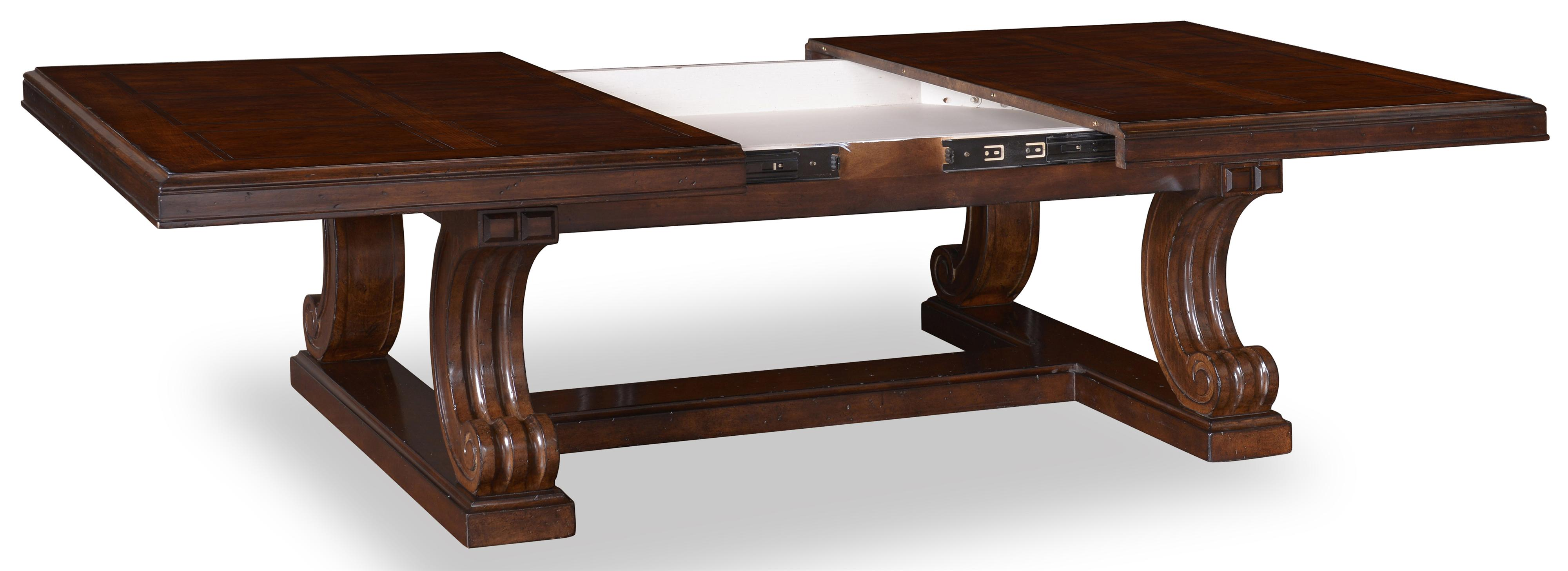 Traditional Rectangular Cocktail Table with Sliding Top & Leaf by