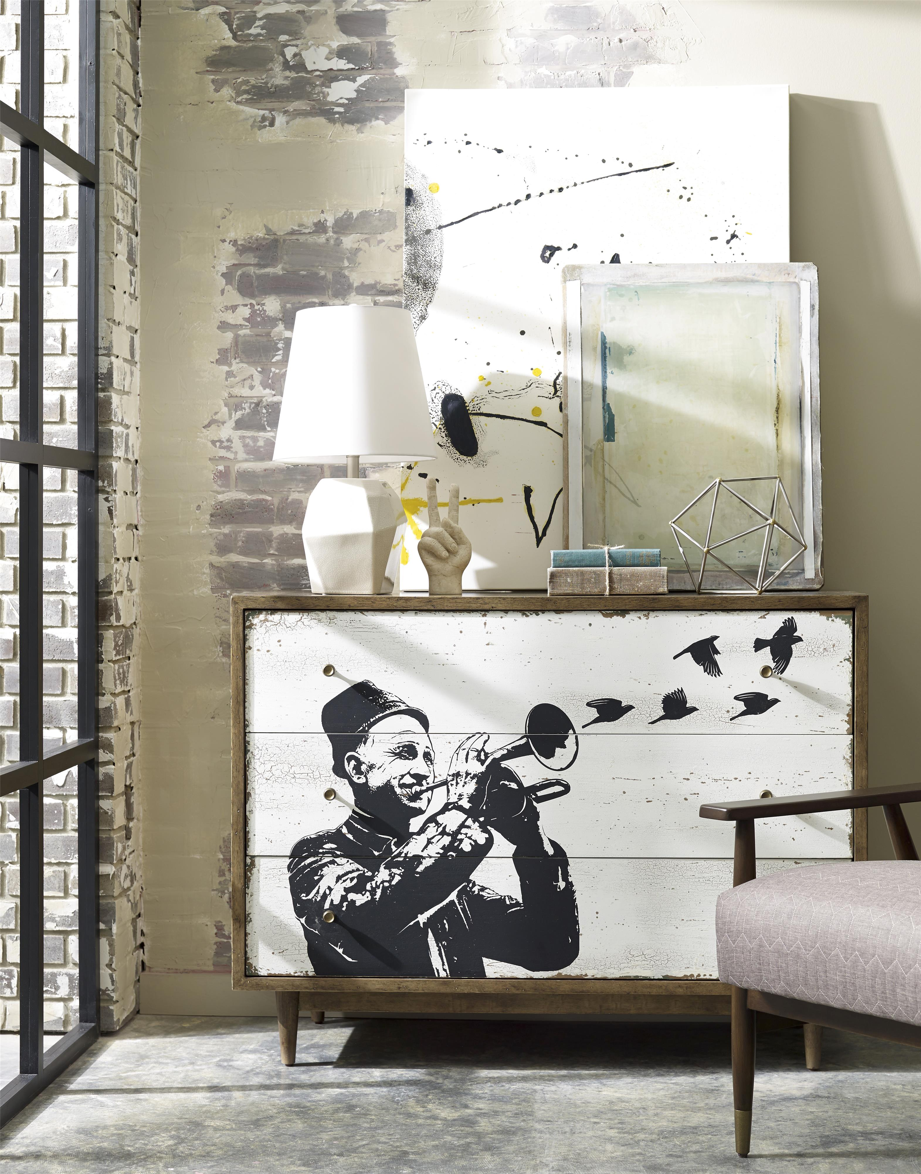 Williamsburg Single Dresser With Street Art Style Screenprint By A R T Furniture Inc Wolf And