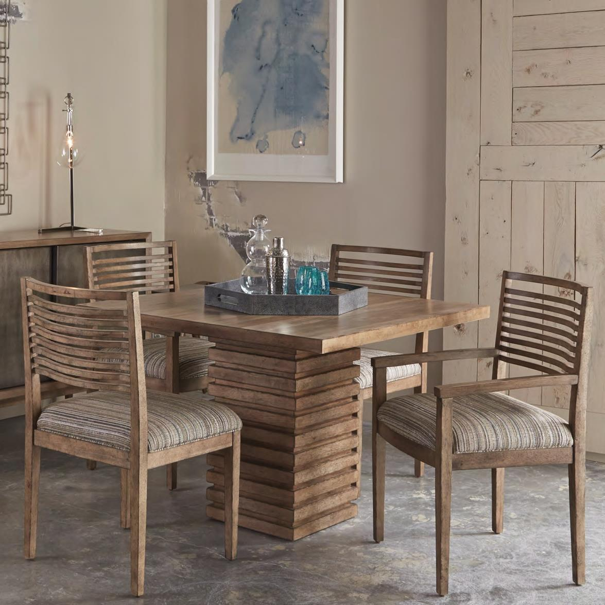 5 Piece Williamsburg Pedestal Dining Table Set