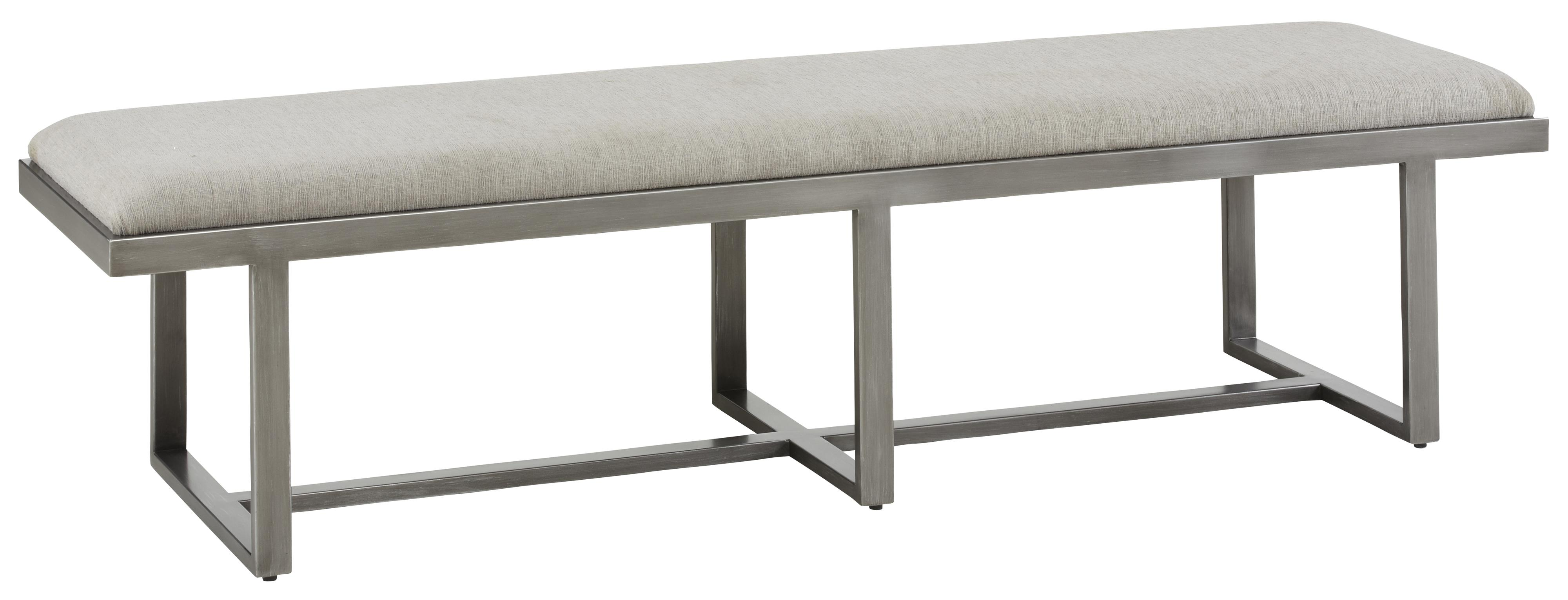 Metal Art Furniture - By a r t furniture inc narrow silver lake metal bench upholstered cocktail ottoman