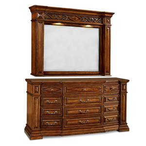 A.R.T. Furniture Inc Marbella Drawer Dresser and Lighted Mirror