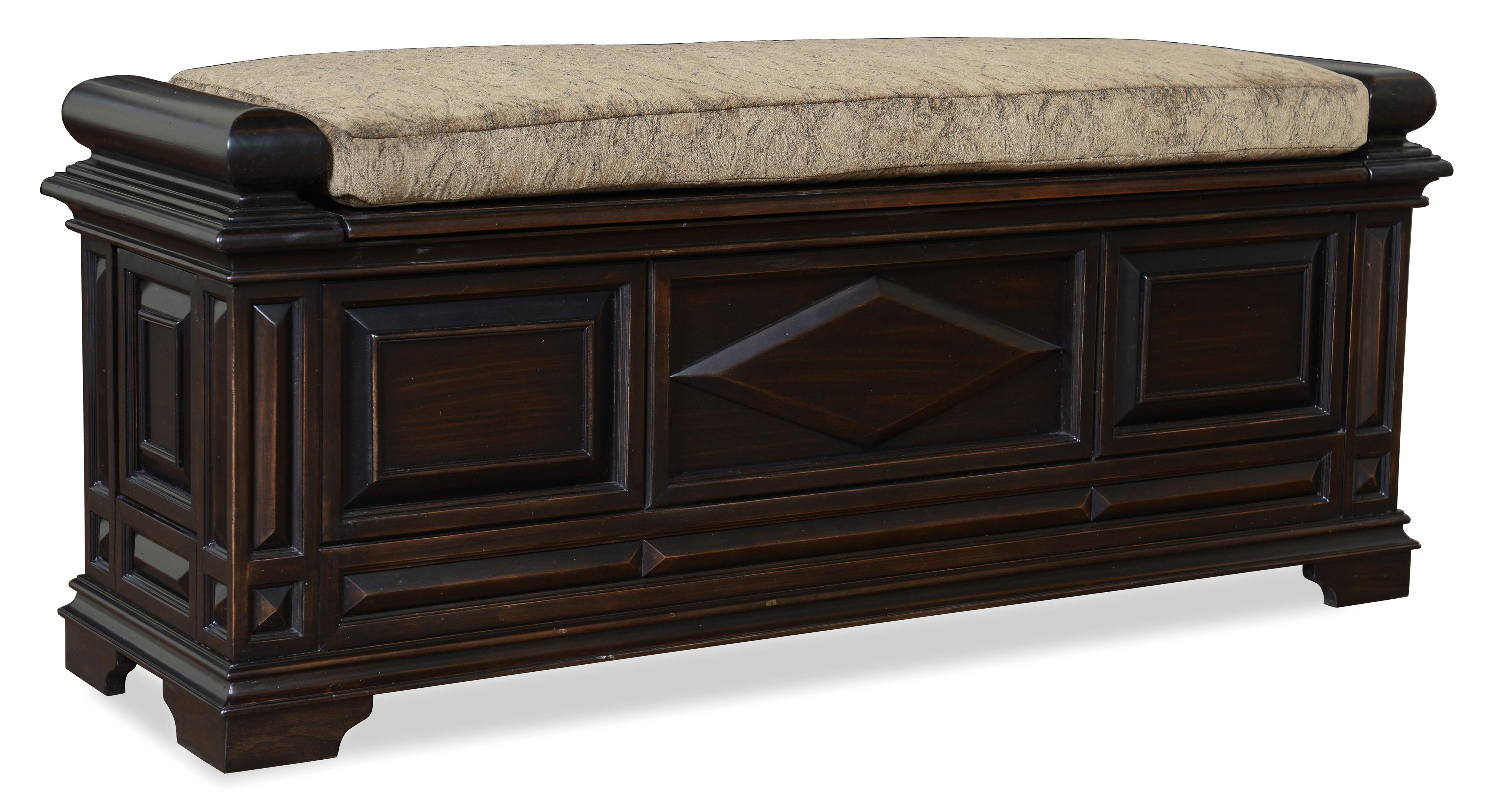 Old World Cedar-Lined Storage Bench with Cushion Top by A ...
