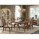 A.R.T. Furniture Inc Provenance Rectangular Two Tone Dining Table - Shown with Display Cabinet, Arm Chairs and Side Chairs