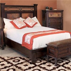 International Furniture Direct 300 Valencia Queen Panel Bed