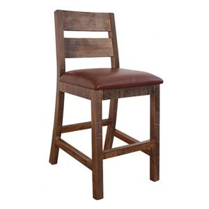 "International Furniture Direct 900 Antique 24"" Barstool"