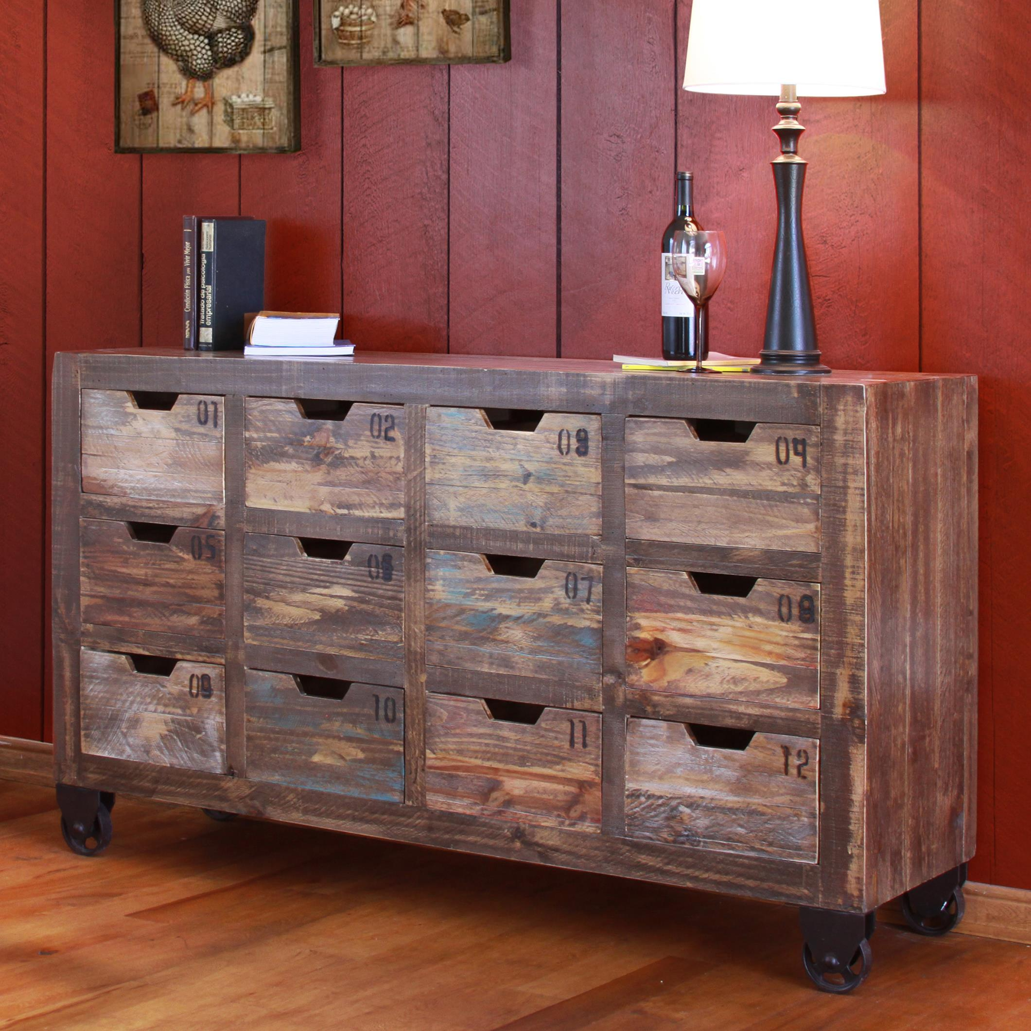 Multi Drawer Console With 12 Drawers
