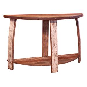 International Furniture Direct Antique Sofa Table with 1 Shelf