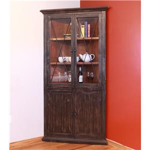 International Furniture Direct Vintage Corner Cabinet