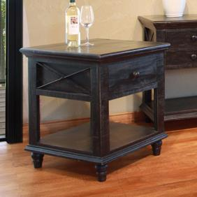 International Furniture Direct Vintage 1 Drawer End Table