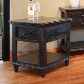 International Furniture Direct Vintage 1 Drawer End Table