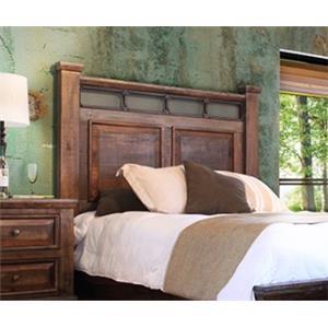 International Furniture Direct Golden Antique King Headboard