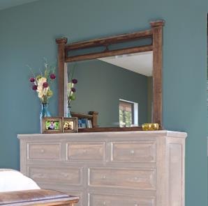 International Furniture Direct Golden Antique Mirror