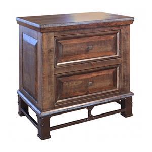 International Furniture Direct Golden Antique NIghtstand