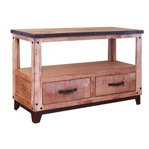 International Furniture Direct Maya Sofa Table with 2 Drawers