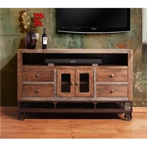 International Furniture Direct Urban Gold TV Stand