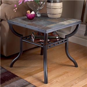 Signature Design by Ashley Antigo Slate Top Square End Table