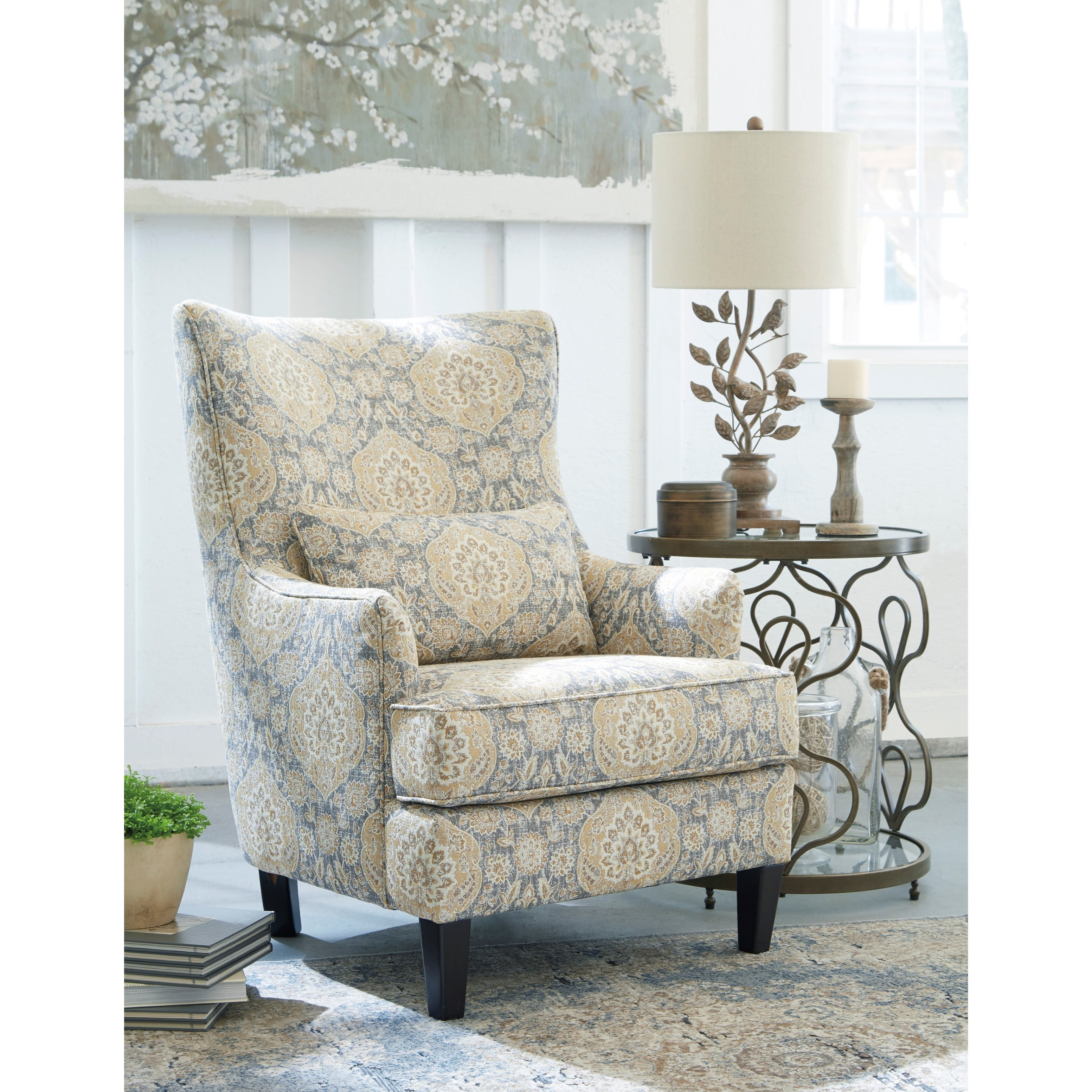 Brilliant Scalloped Wingback Accent Chair By Ashley Furniture Wolf Bralicious Painted Fabric Chair Ideas Braliciousco