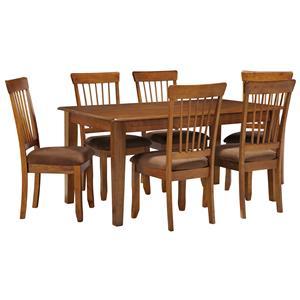 Ashley Furniture Berringer 7-Piece 36x60 Table & Chair Set