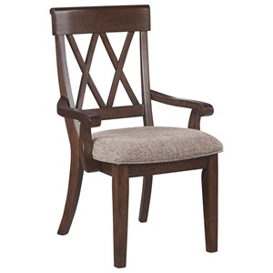 Dining Room Arm Chair with Upholstered Seat