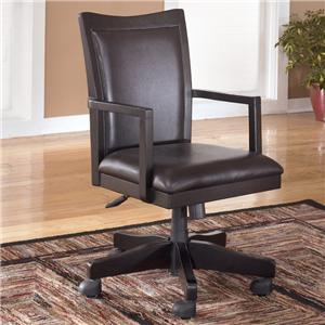 Signature Design by Ashley Carlyle Arm Chair with Swivel and Adjustable Height