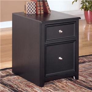 Signature Design by Ashley Carlyle 2 Drawer Mobile File Cabinet