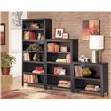 Signature Design by Ashley Carlyle Large Bookcase - Shown with Medium and Small Bookcase