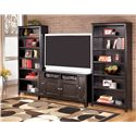 Signature Design by Ashley Carlyle Large Bookcase - 2 Bookcases Shown with TV Stand