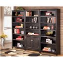 Signature Design by Ashley Carlyle Large Bookcase - 2 Large Bookcases Shown with 1 Large Door Bookcase