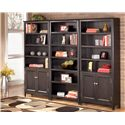 Signature Design by Ashley Carlyle Large Bookcase - 2 Large Door Bookcases Shown with 1 Large Bookcase