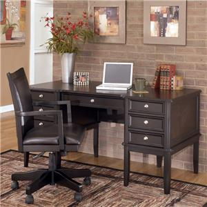 Signature Design by Ashley Carlyle Leg Desk with Storage