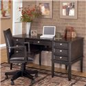 Signature Design by Ashley Carlyle Leg Desk with Storage - Item Number: H371-27