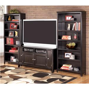 Signature Design by Ashley Carlyle 60 Inch TV Stand & 2 Large Bookcases