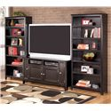 Signature Design by Ashley Carlyle 60 Inch TV Stand & 2 Large Bookcases - Item Number: W371-38+2xH371-17