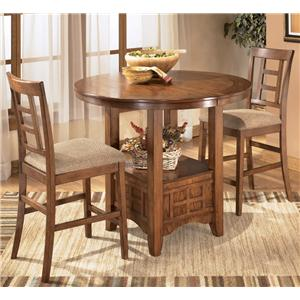 Ashley Furniture Cross Island 3Pc Counter Height Dinette