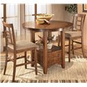 Ashley Furniture Cross Island 5-Piece Counter Height Ext Table Dining Set - Table shown without leaf