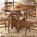 Ashley Furniture Cross Island Counter Height Extension Table - Shown with 18-inch leaf