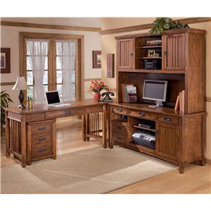 Ashley Furniture Cross Island 5 Piece L-Shape Desk