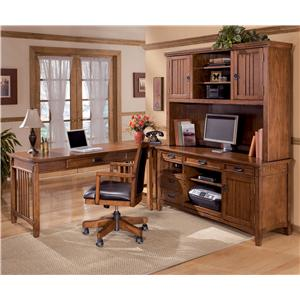 Ashley Furniture Cross Island 4 Piece L-Shape Desk