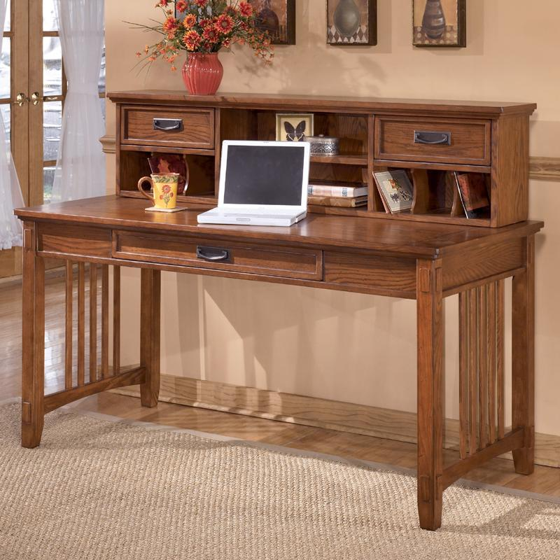 Mission Large Leg Desk And Low Hutch By Ashley Furniture Wolf And Gardiner Wolf Furniture