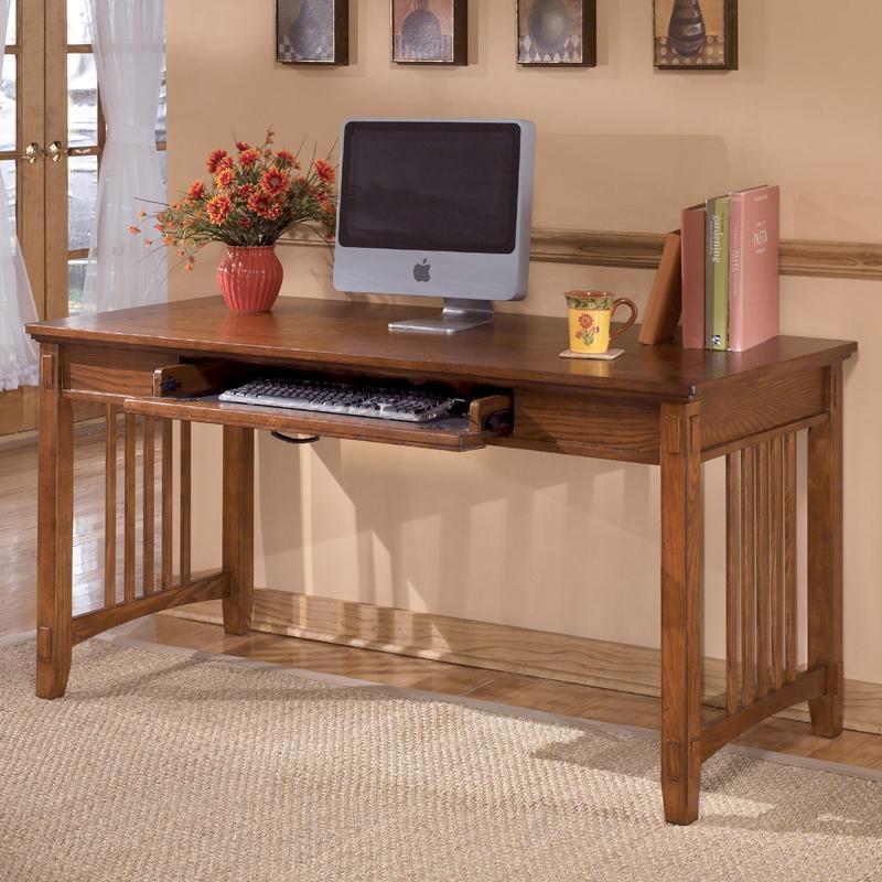Oak Large Leg Desk By Ashley Furniture Wolf And Gardiner Wolf Furniture