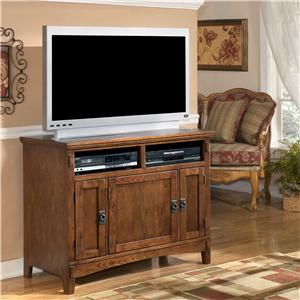 42 Inch Oak TV Stand with Mission Style Hardware