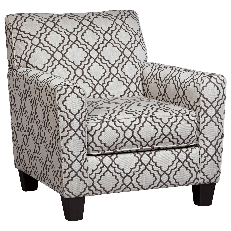 Accent Chair with Quatrefoil Lattice Fabric
