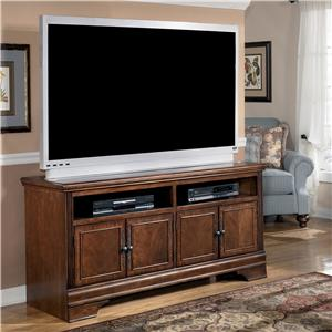 Transitional Large TV Stand with Cherry Veneer