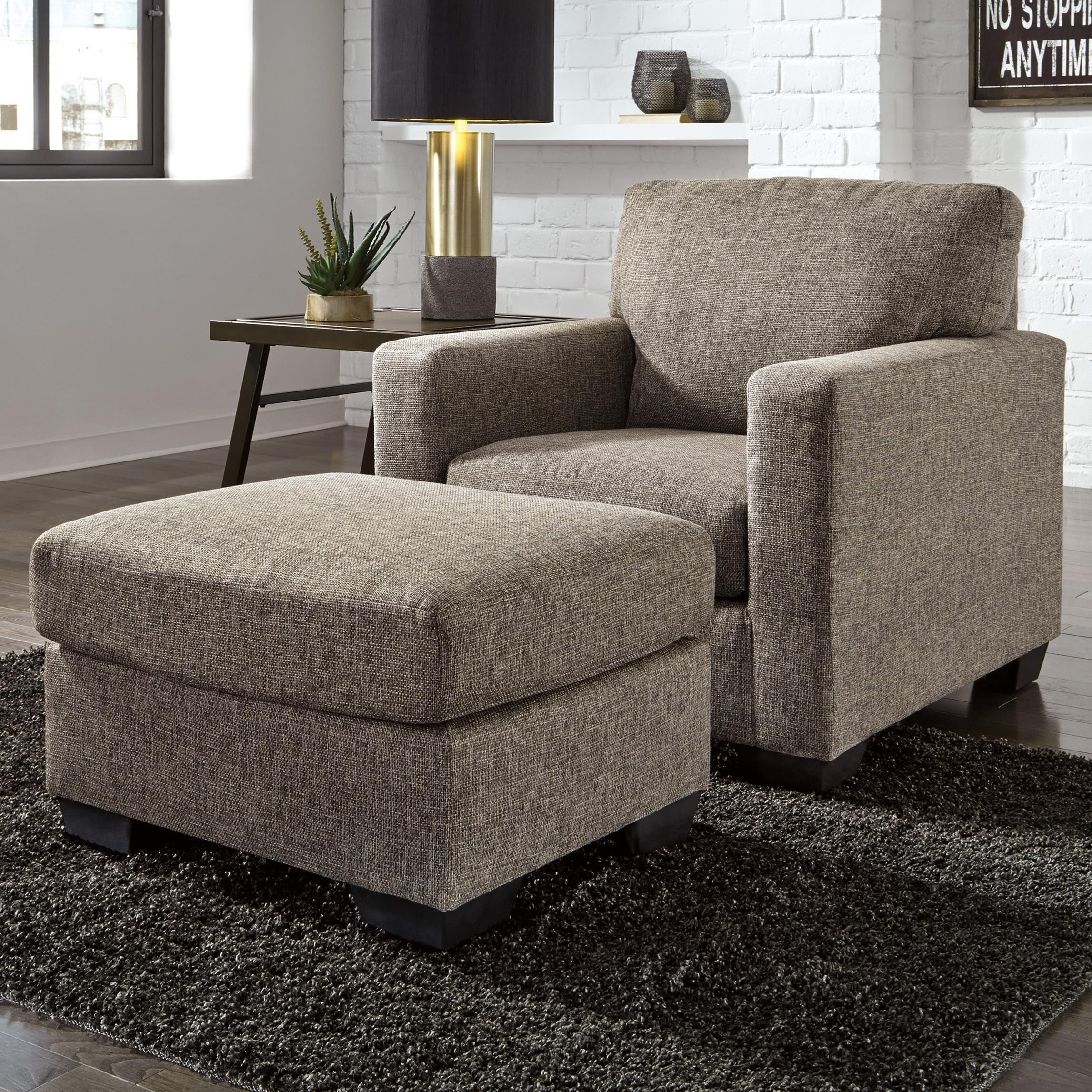 Contemporary Chair & Ottoman by Ashley Furniture