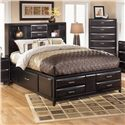 Ashley Furniture Kira King Storage Bed - Queen Size Bed Shown
