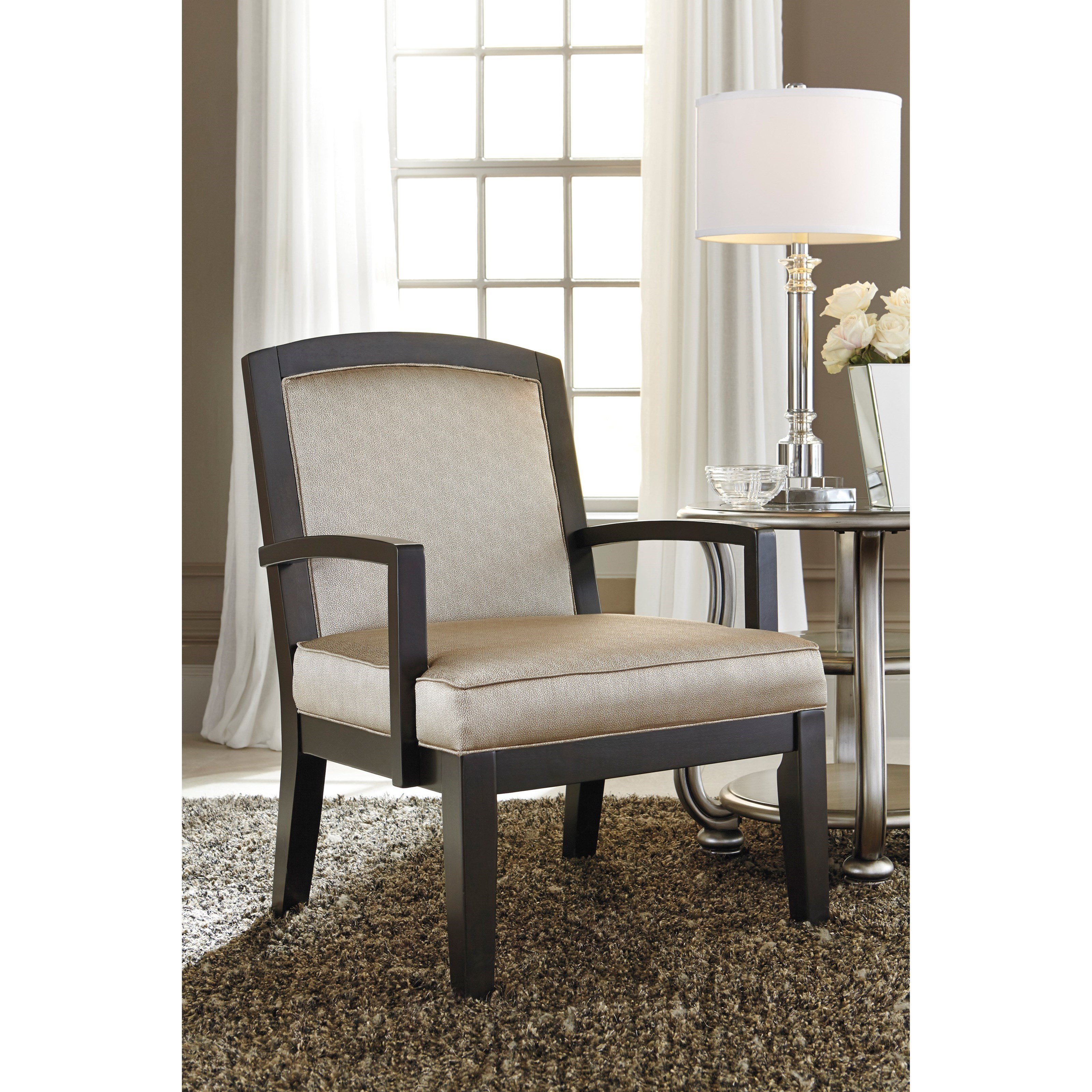 Accent Chair with Glam Fabric by Ashley Furniture