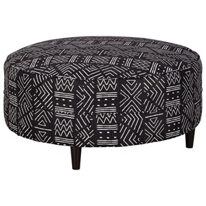Round Oversized Accent Ottoman