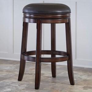 Bar Height Backless Tall Upholstered Swivel Stool